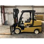 "2011 YALE 12,000-LB. CAPACITY FORKLIFT, MODEL: GLC120VX, LPG, SOLID TIRES, 3-STAGE MAST, 185"" LIFT"