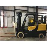 2006 YALE 12,000-LB. CAPACITY FORKLIFT, MODEL: GLC120VX, LPG, SOLID TIRES, 3-STAGE MAST, 9,483 HOURS