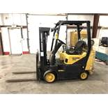 DAEWOO, 4,000-LB. CAP. FORKLIFT, MODEL: GC20SC, LPG, SOLID TIRES, 3-STAGE MAST, SIDESHIFT, 6,405 HRS