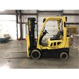 2014 HYSTER 5,000-LB., MODEL: S50FT, S/N: F187V26181M, LPG, LEVER SHIFT TRANSMISSION, SOLID TIRES,