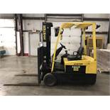 HYSTER 4,000-LB. CAP FORKLIFT, MOD: J40ZT, 36V, 3-STAGE MAST, SIDESHIFT, SHOWING 72 TRACTION HOURS