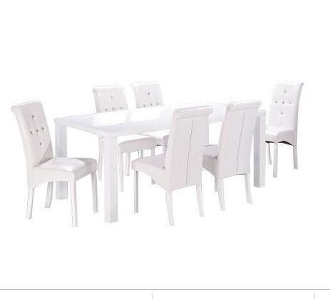 Lot 19BB - 1 GRADE B MONROE DINING TABLE IN WHITE / GRADE B D