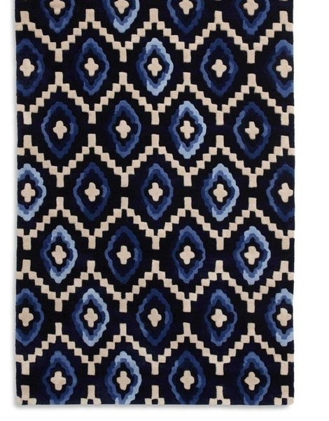 Lot 52 - 1 GRADE B PURE WOOL ORIGIN RUG, BLUE 20 x 170CM **