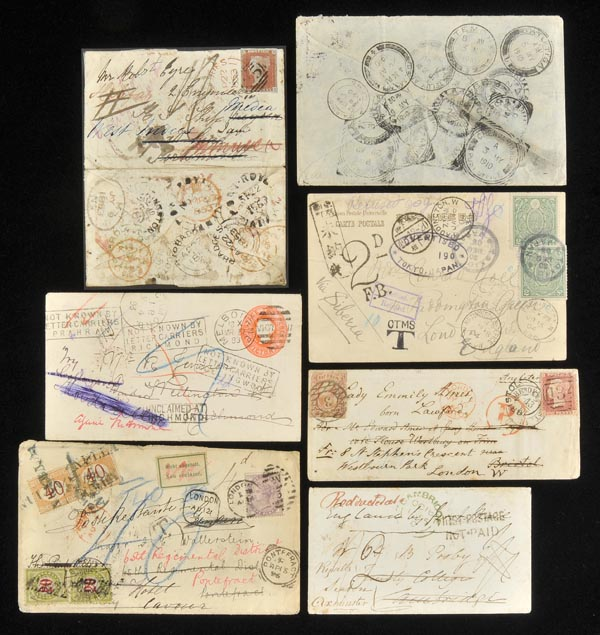 Postal History - World Redirected Mail 1820s-1960s. An exceptional...