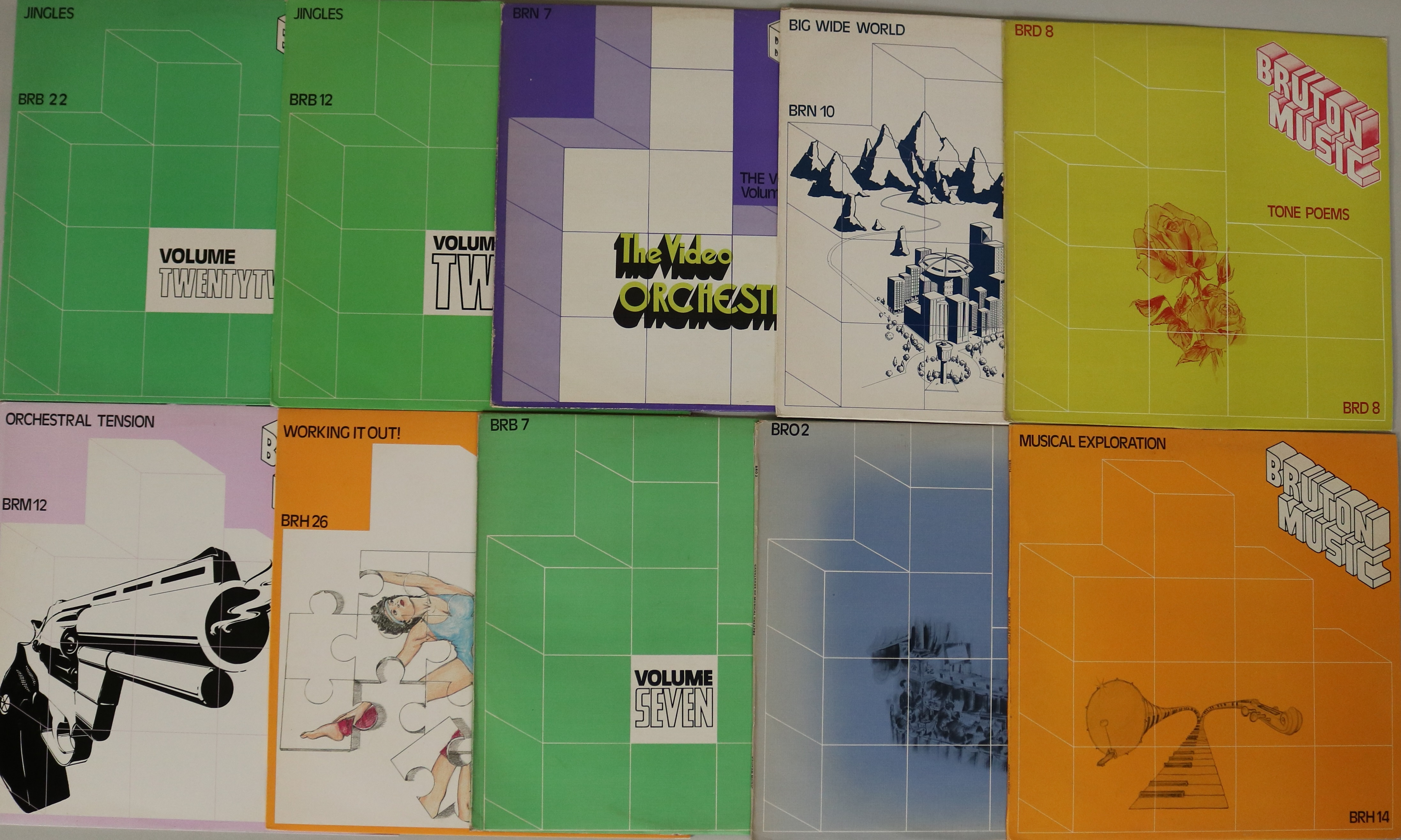 BRUTON MUSIC LIBRARY LPS - Collection of 47x Bruton library LPs  To