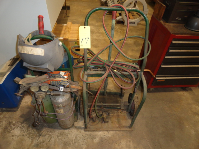 Lot 17 - LOT OF WELDING CARTS (3), w/misc. tips & tanks