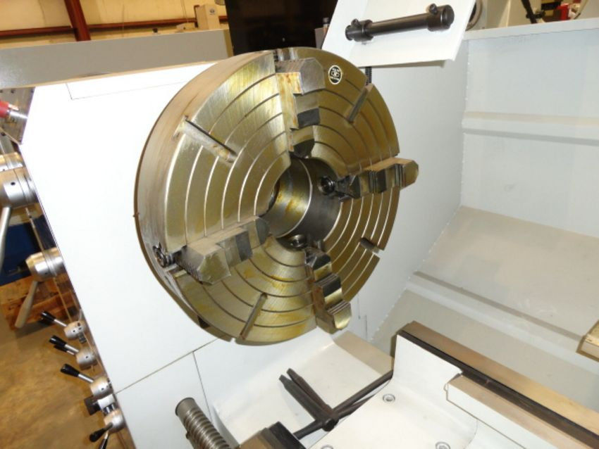 """Lot 57 - HOLLOW SPINDLE LATHE, ROUGHNECK (CHU SHING) 26"""" X 80"""" MDL. HR-VS (NEW), 26-7/8"""" sw. over bed, 17-3/"""