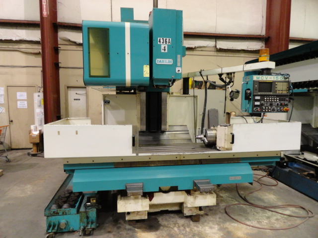"Lot 56 - CNC VERTICAL MACHINING CENTER, DAHLIH MDL. MCV-1500, new 12/2002, Fanuc 18M CNC control, 67"" x 26.8"""