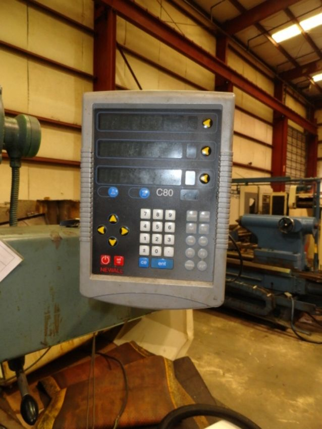 "TABLE TYPE HORIZONTAL BORING MILL, WOTAN 3"" MDL. B75-M, new 1969, 4-way bed, 32"" x 39"" built-in - Image 12 of 12"