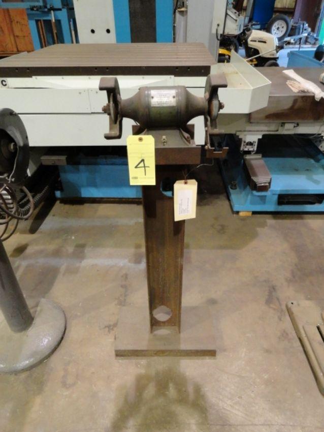 Lot 4 - PEDESTAL GRINDER, BALDOR, 1/3 HP motor