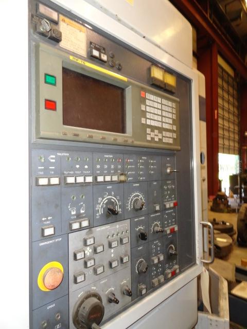 """Lot 52 - CNC MULTI-AXIS LATHE, MORI SEIKI MDL. MT-25B, new 1996, Fanuc MF-T6 (16T) CNC control, 37.8"""" sw."""