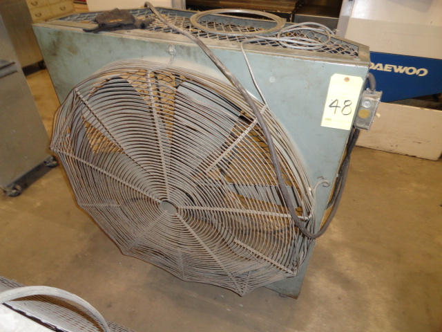 "Lot 48 - SHOP FAN, ""OLD SCHOOL"" 36"", round"