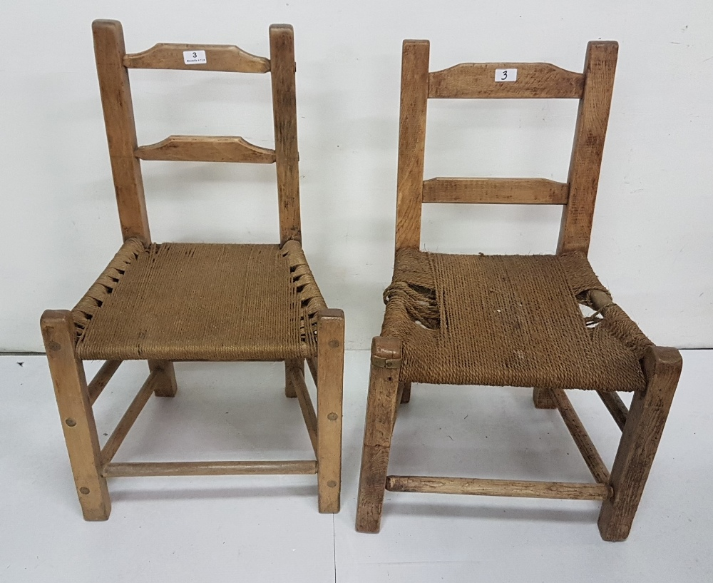 Lot 3 - Two similar Irish Pine Sugan Chairs (2)
