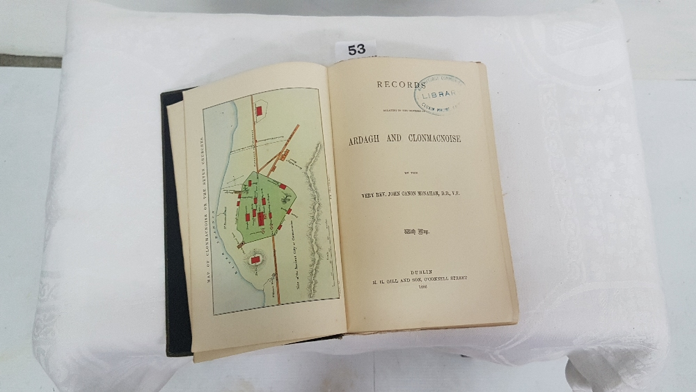 Lot 53 - Book: CANON JOHN MONAHAN, Records relating to the Dioceses of Ardagh and Clonmacnoise, 1886, 1st