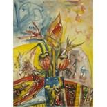 JOHN BELLANY (BRITISH 1942-2013), 'FLOWERS', 1998,