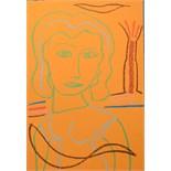 ADRIAN WISZNIEWSKI (BRITISH b.1958), 'YOUNG WOMAN II', contemporary Scottish school, pastel on