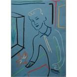 ADRIAN WISZNIEWSKI (BRITISH b.1958), 'YOUNG MAN II', contemporary Scottish school, pastel on