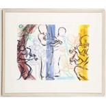 JOHNNY DEWE MATHEWS, contemporary monoprint, signe