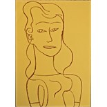 ADRIAN WISZNIEWSKI (BRITISH b.1958), 'YOUNG WOMAN', contemporary Scottish school, pastel on