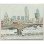 HENRY KONDRACKI (BRITISH, b.1953), 'WATERLOO BRIDGE', contemporary Scottish school, oil on canvas,