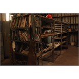 LOT CONSISTING OF REMAINDER OF TOOL CRIB: storage cabinets, nuts & bolts w/storage bins,