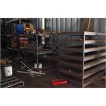 LOT OF STORAGE RACK SECTIONS (5), metal fabricated, 3'W. x 6'L. x 5' ht., medium duty, w/contents