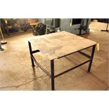 "WORKTABLE, steel fabricated, 4' x 4' x 32"" ht."
