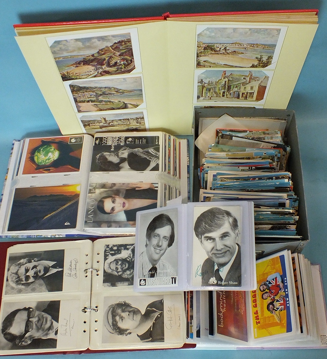Lot 191 - A large quantity of modern postcards, all world, in albums and loose, approximately 700 and a