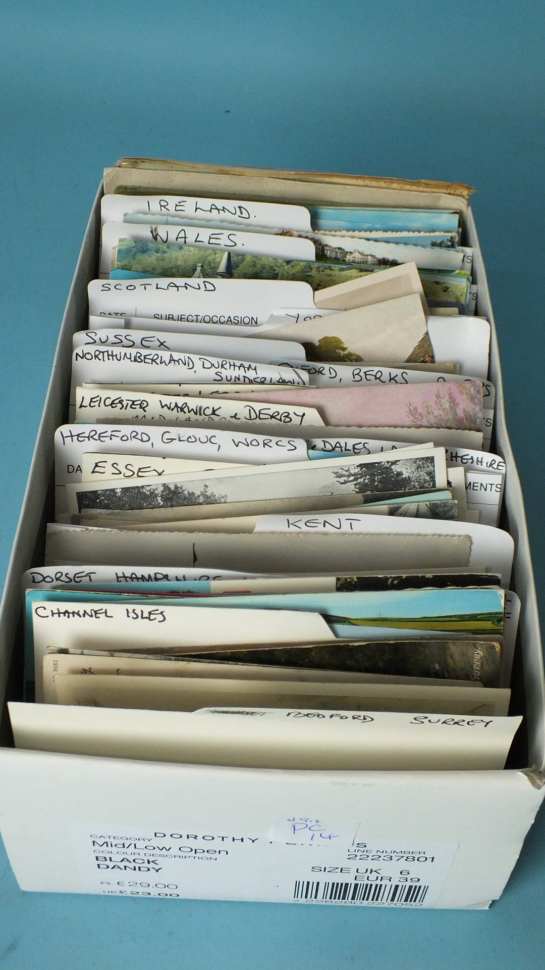 Lot 190 - Approximately 450 loose topographical postcards, UK, including some by A R Quinton, an album of