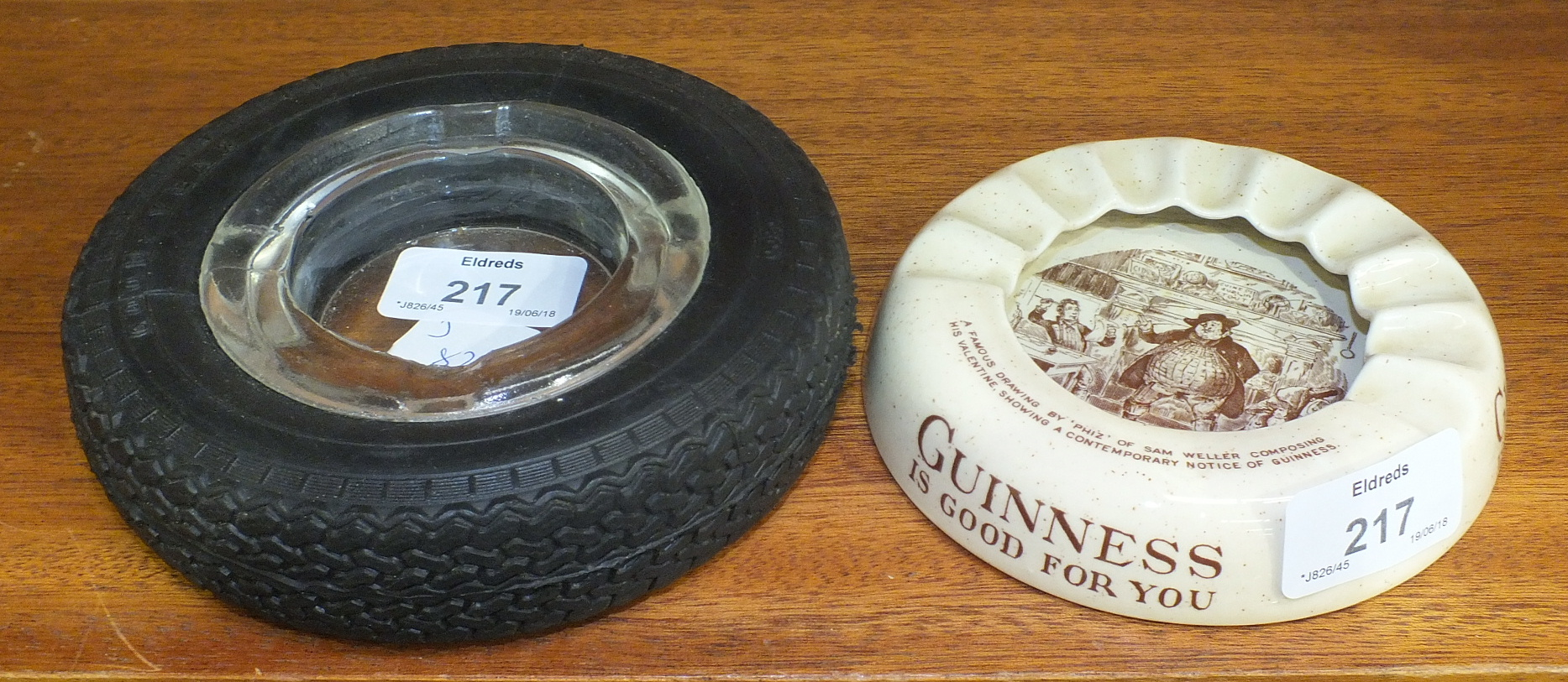 A Wiltshaw & Robinson Ltd 'Guiness is Good for You' advertising ashtray, transfer-printed with a