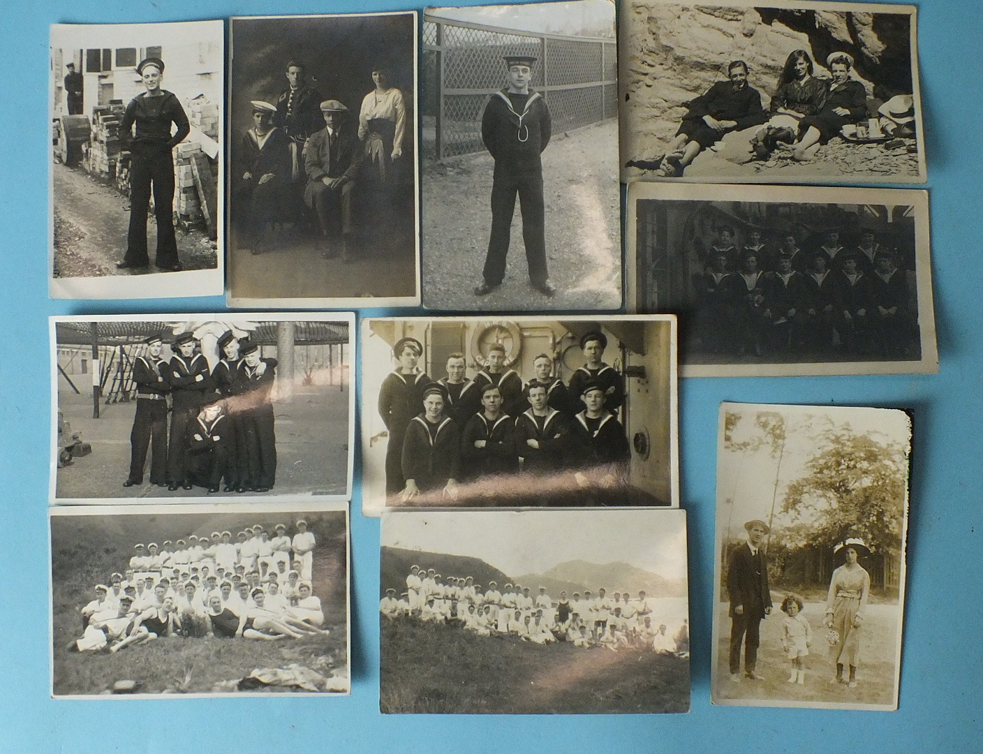 Lot 192 - A small collection of 40 early-20th century RP portrait postcards, many of sailors in uniform.