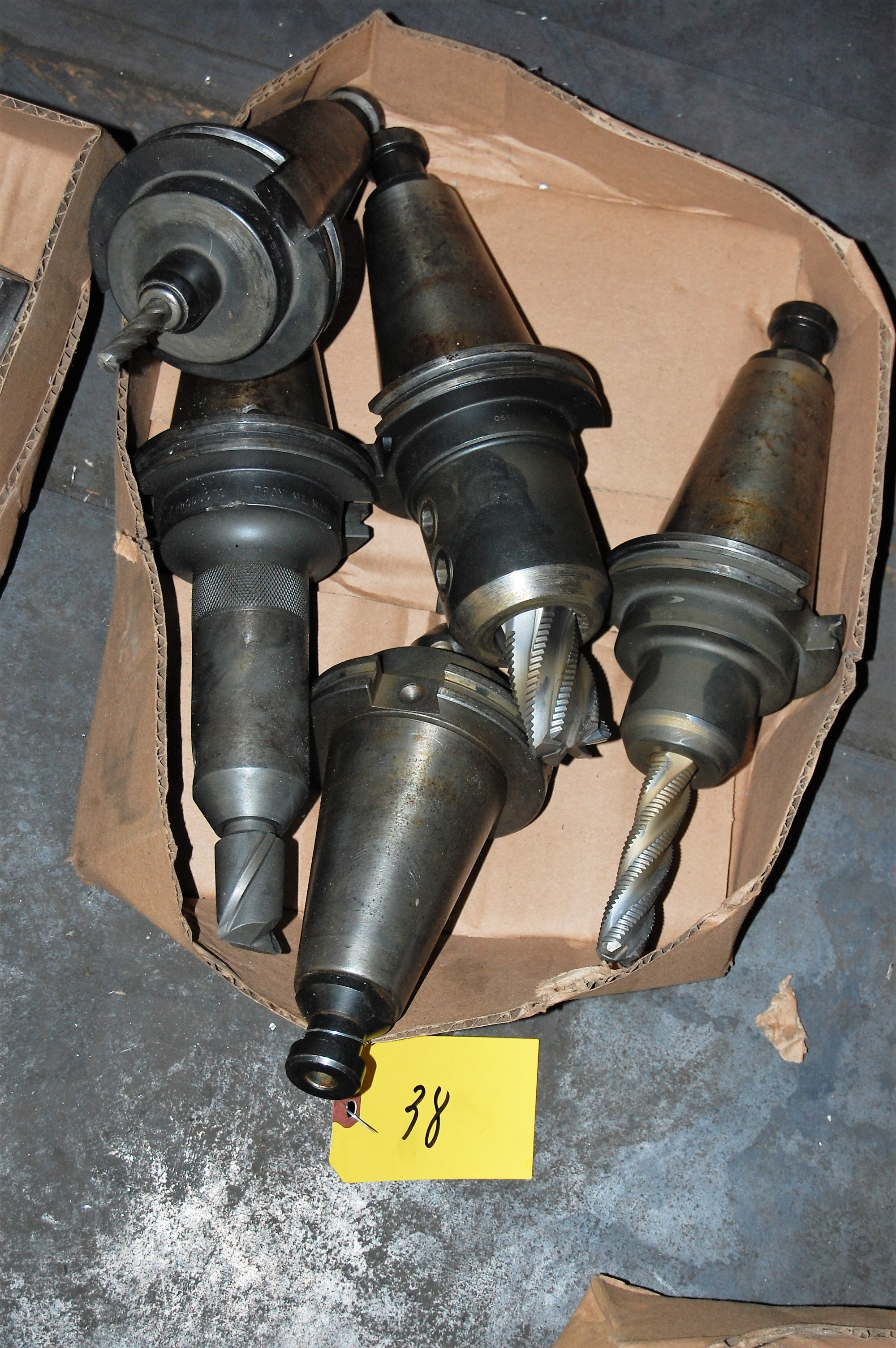 Lot 38 - (5) #50 TAPER TOOL HOLDERS (LOCATED IN HARRISON, NEW JERSEY)
