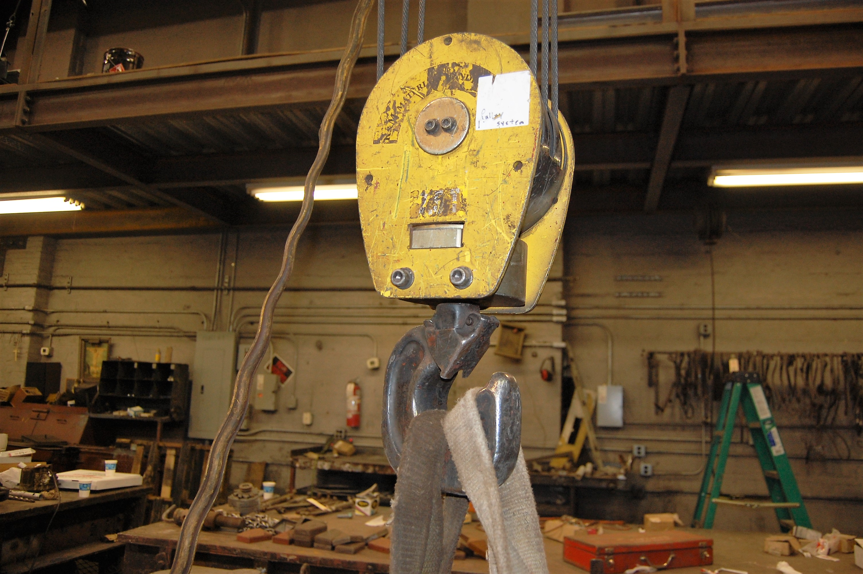 Lot 53 - 7-1/2 TON NORTH AMERICAN OVERHEAD BRIDGE CRANE, TOP RUNNING, 55' SPAN, 80 FPM, R&M HOIST(2007)