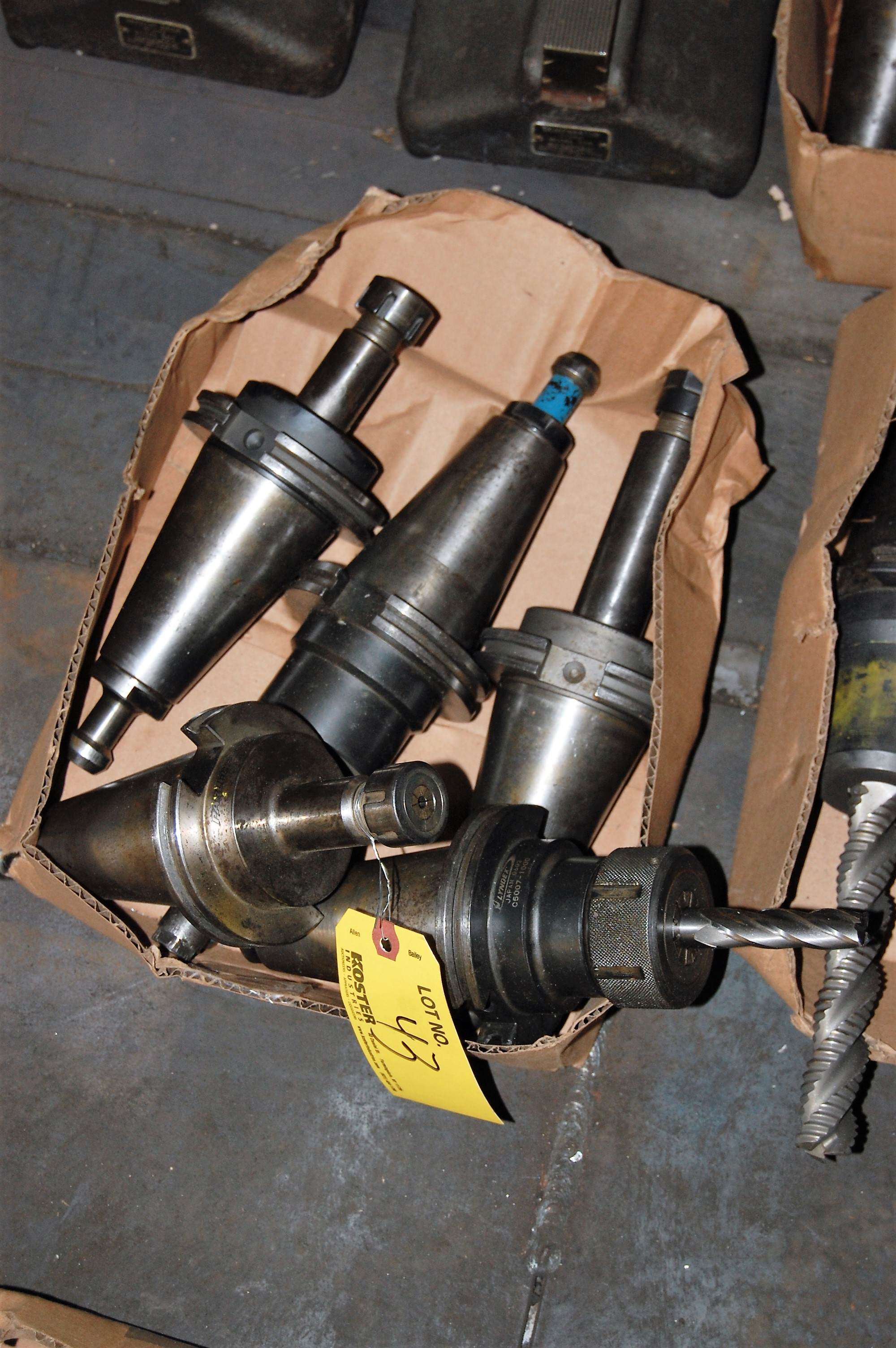 Lot 43 - (5) #50 TAPER TOOL HOLDERS (LOCATED IN HARRISON, NEW JERSEY)