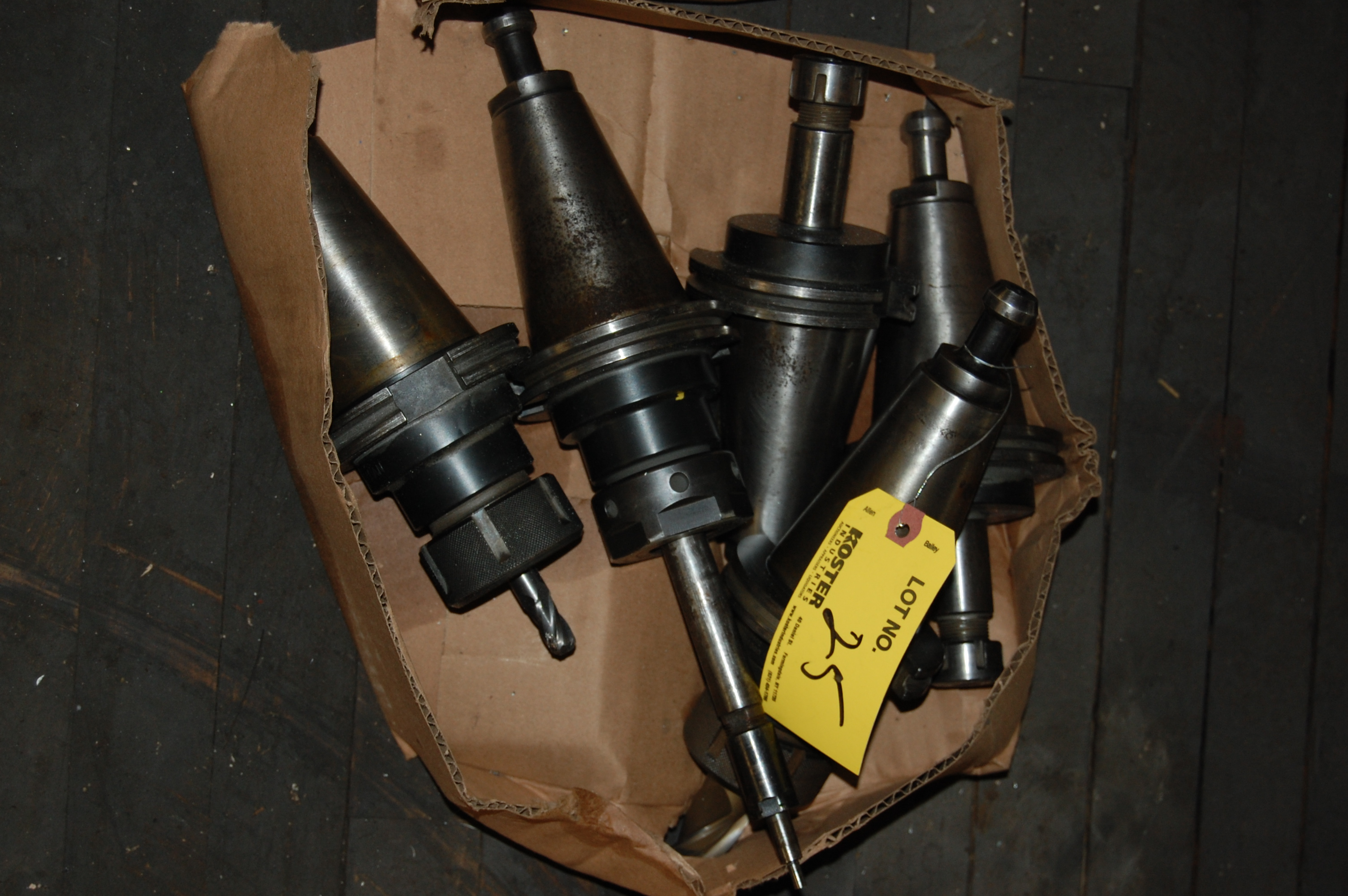 Lot 25 - (5) #50 TAPER TOOL HOLDERS (LOCATED IN HARRISON, NEW JERSEY)