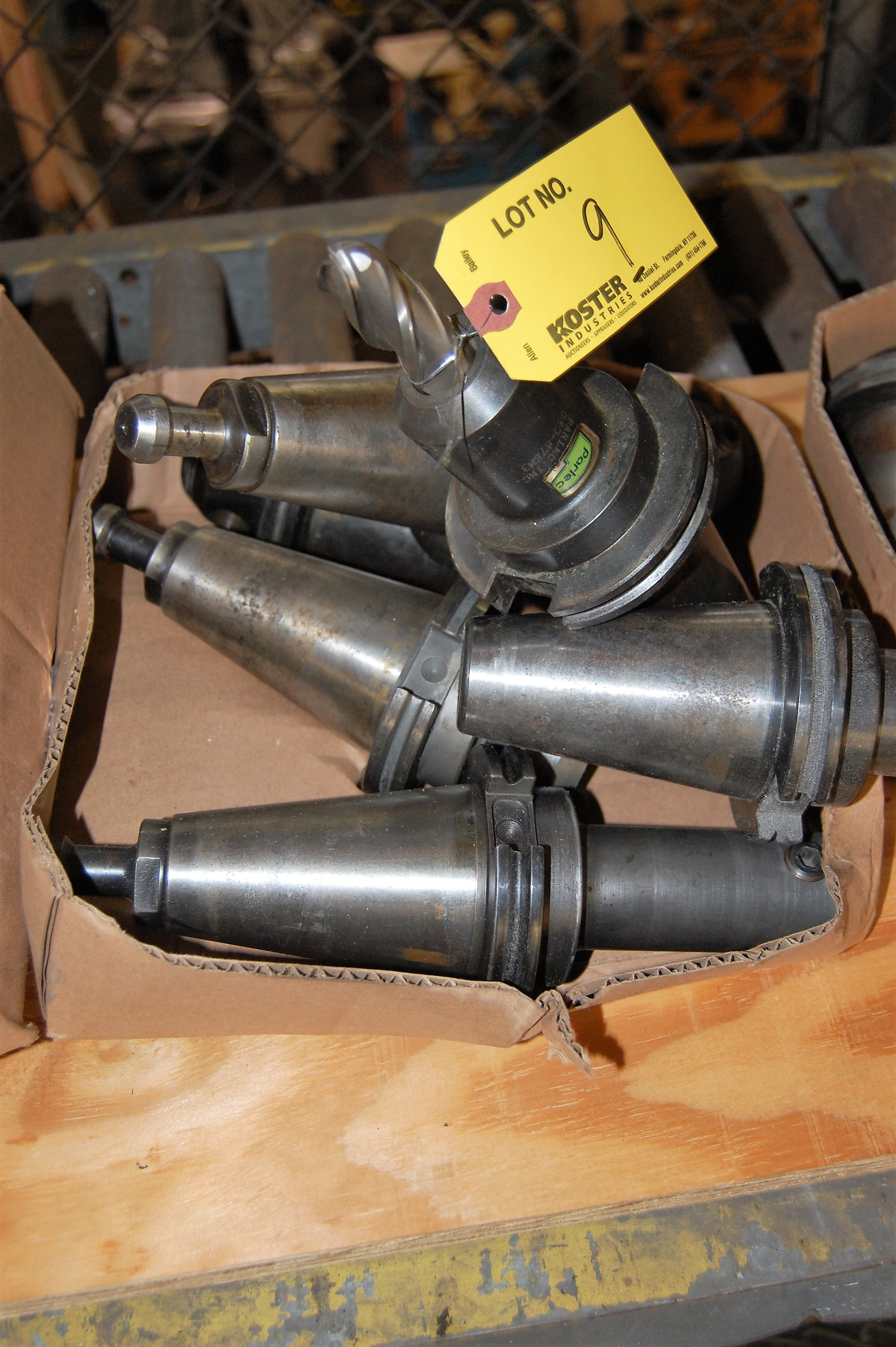 Lot 9 - (6) #50 TAPER TOOL HOLDERS (LOCATED IN HARRISON, NEW JERSEY)