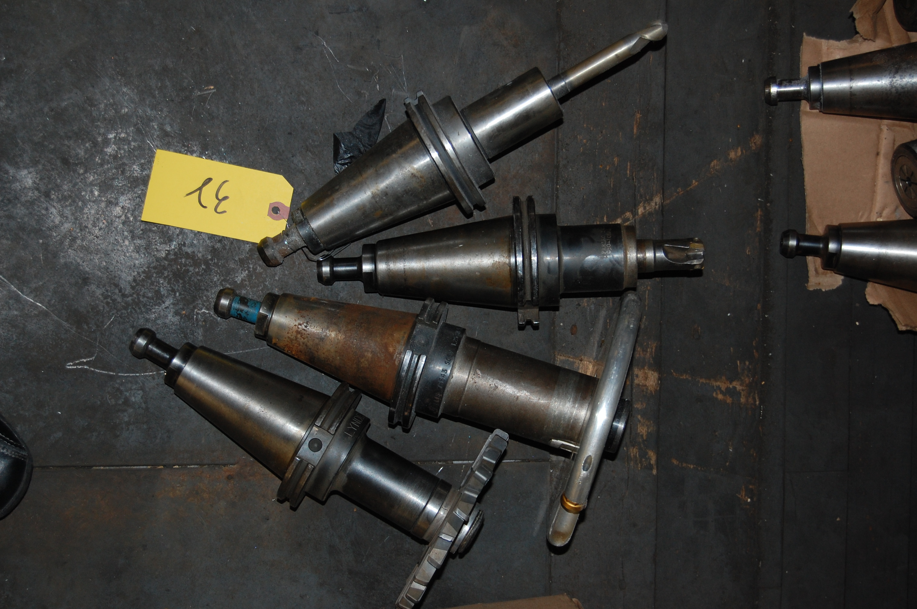Lot 32 - (4) #50 TAPER TOOL HOLDERS (LOCATED IN HARRISON, NEW JERSEY)