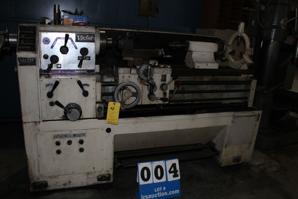 """VICTOR 1640 ENGINE LATHE, 1 1/ 2"""" HOLE, 54"""" BED, 16"""" SWING, 40"""" CENTERS, 7"""" CHUCK - Image 2 of 2"""