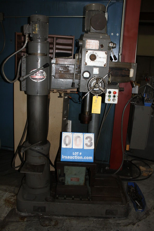"""KAO MING RADIAL ARM DRILL, MDL : KMR-700 DS, LUX DRILL 828A, 3' HEIGHT, 3' ARM, 30"""" TRAVEL, 8"""""""