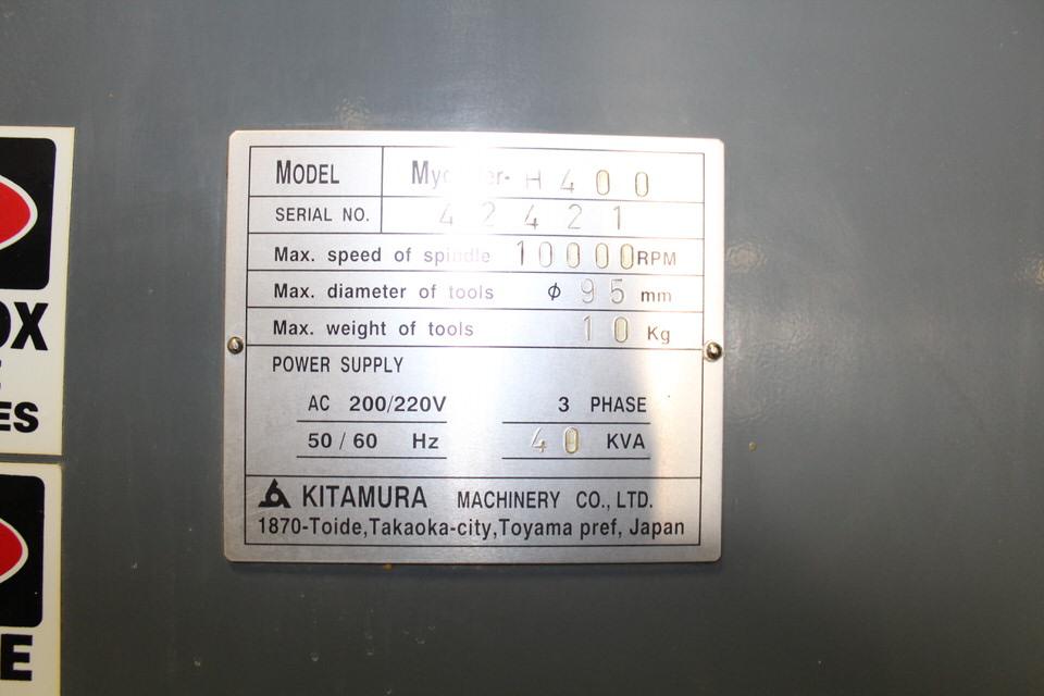 KITAMURA MY CENTER H-400 W/ FANUC M 15 CONTROL - Image 7 of 7