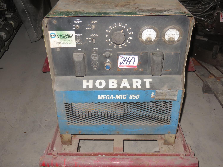 Lot 24A - HOBART MOD MEGA-MIG 650, 650AMP POWER SOURCE