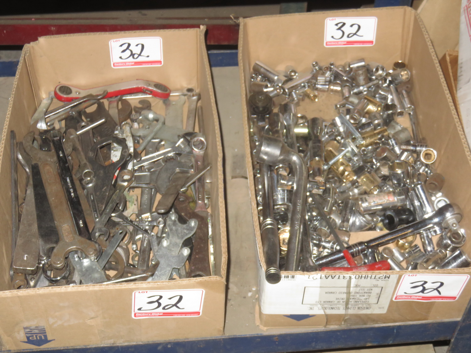 Lot 32 - LOT - GENERAL ASSTD SOCKETS + WRENCHES