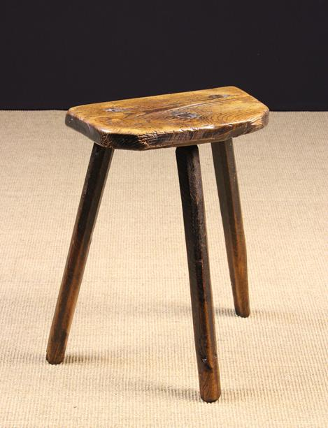 A Tall 19th Century Rustic Cutler's Stool.