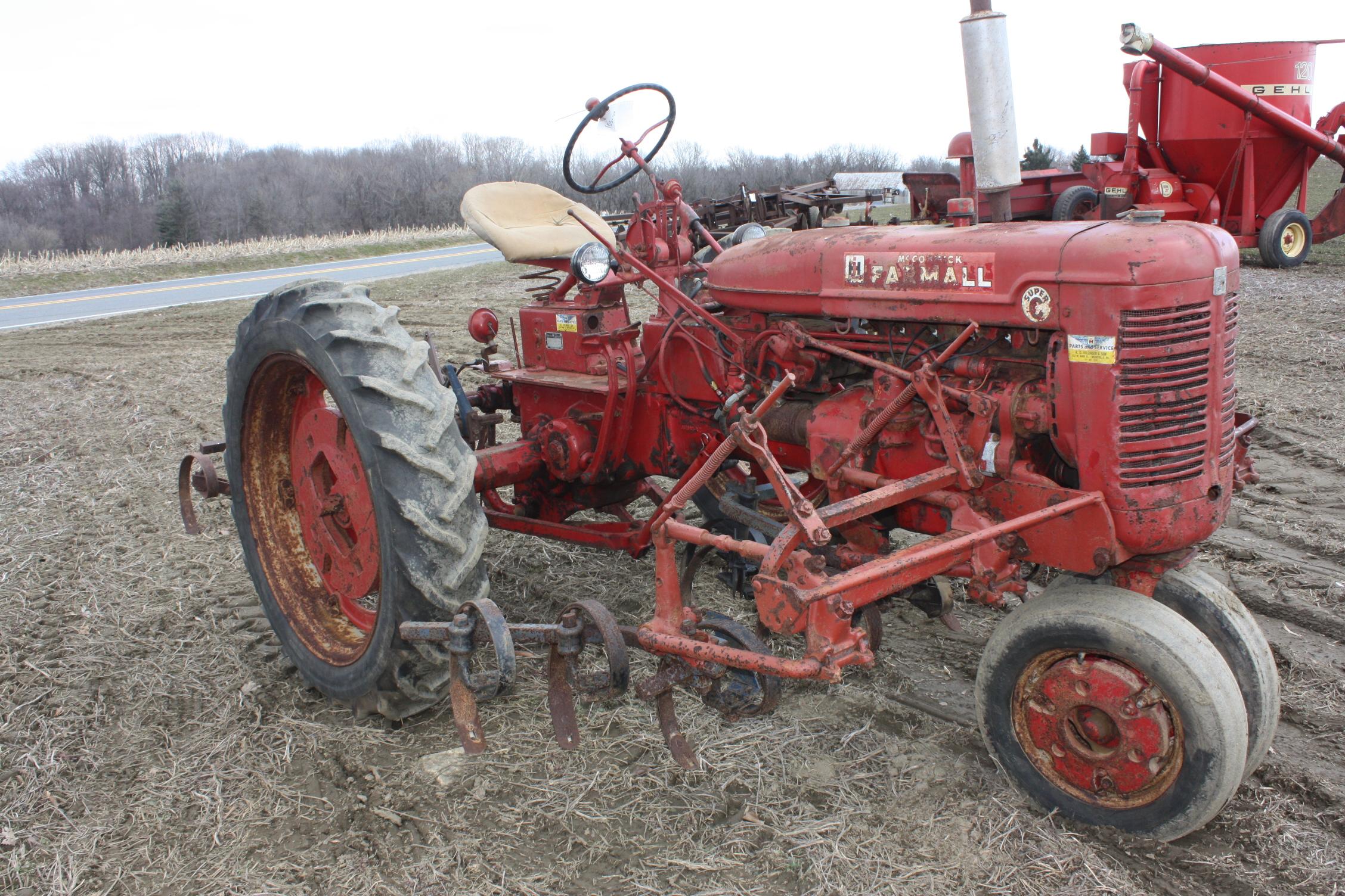 Farmall Super A Cultivator : Farmall super c with fast hitch and selling a