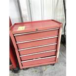 TOOL BOX, 5-drawer, w/tools