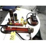 LOT CONSISTING OF: hydraulic power unit, w/(8) hydraulic jacks, assorted