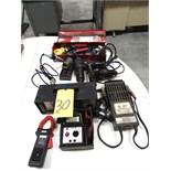 LOT CONSISTING OF: amprobe, battery load tester, engine analyzer, soldering iron, heat gun & heat