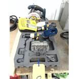 LOT CONSISTING OF: (2) battery operated drills, Ryobi circular saw, 18 V.