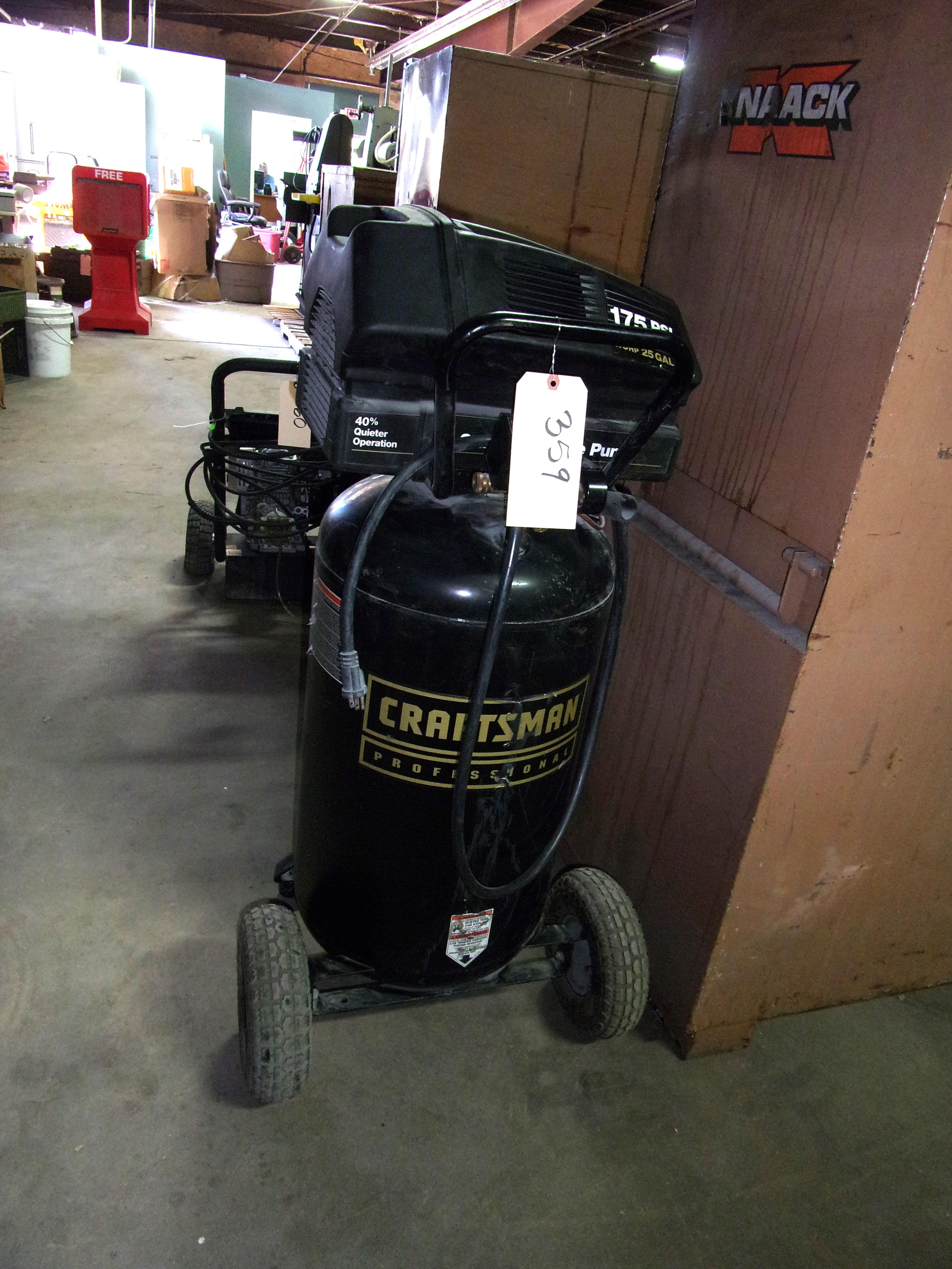 Craftsman 1 6hp 25 Gallon Portable Air Compressor 175 Psi