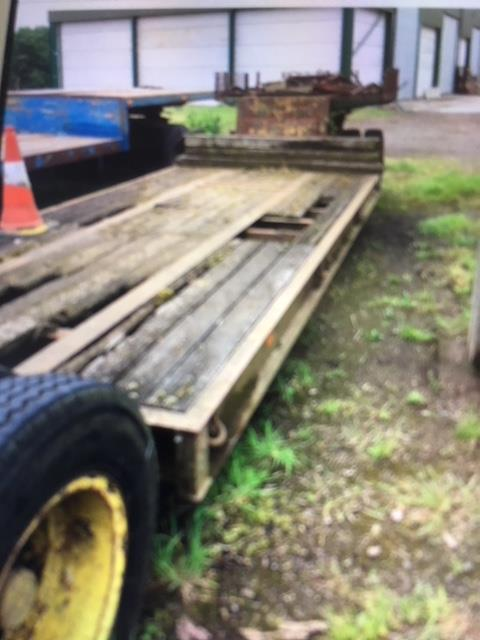Lot 2 - Low Loader, sound condition but floor will need some work. Stored near Beccles.